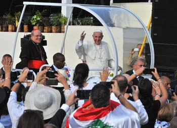 Imágenes, homilías, textos y fotogalerías, de la visita del Santo Padre Francisco
